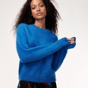 Aritzia Wilfred Serment mohair sweater blue L